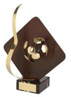 Trofeo fútbol rojo