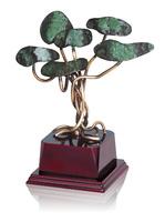 Trofeo floral arbol de latón