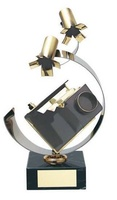 Trofeo fotografía cámara e iluminación