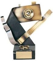 Trofeo fotografía cámara latón