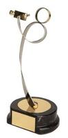 Trofeo fotografía video cámara dorado