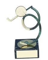 Trofeo golf golfista negro y dorado