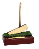 Trofeo golf hierro dorado