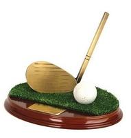 Trofeo golf palo y pelota