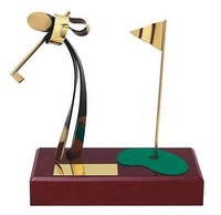 Trofeo golf peana madera