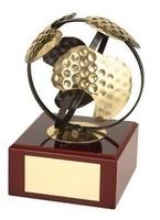 Trofeo golf pelota dorada