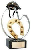 Trofeo hípica casco y herradura