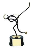 Trofeo hockey patines negro y dorado