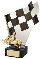 Trofeo karts bandera y karts