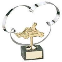 Trofeo karts dorado