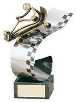 Trofeo karts latón