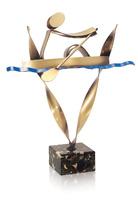 Trofeo latón de remo