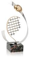 Trofeo latón de tenis deportes