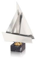 Trofeo latón plateado de vela