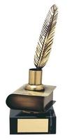 Trofeo literatura libro y pluma