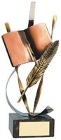 Trofeo literatura pluma y libro