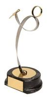 Trofeo música dorado cantante