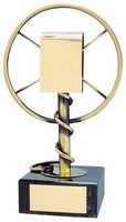 Trofeo música micrófono antiguo