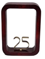 Trofeo marco madera Laton y Resina  25 Aniversario
