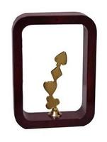 Trofeo marco marron Laton y Resina  Cartas