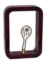 Trofeo marco marron Laton y Resina  Tenis