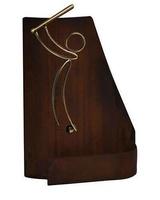 Trofeo marron Artesanal Laton Beisbol