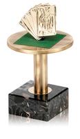Trofeo mesa y baraja de laton
