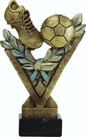 Trofeo modelo uve para futbol