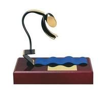 Trofeo natación peana madera