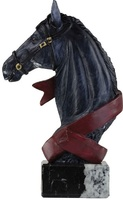 Trofeo negro de caballo