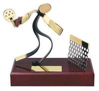 Trofeo padel peana madera