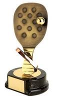 Trofeo padel raqueta dorada