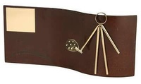 Trofeo padel rectangular ondulado