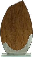 Trofeo para personalizar en madera y cristal Weeki