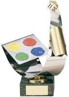 Trofeo parchís fichas a color