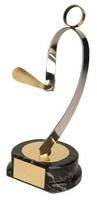 Trofeo pelota vasca jugador pala dorado y plateado