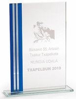Trofeo personalizable con aplique Calnali