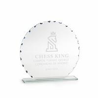 Trofeo personalizable en cristal modelo Heroica