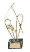 Trofeo pesca caña y pez