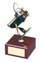 Trofeo pesca carrete de caña