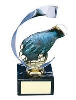 Trofeo petanca mano con bola