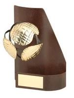Trofeo petanca trapecio aplique bola
