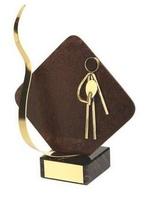 Trofeo ping pong detalle rombo