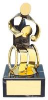 Trofeo ping pong jugador dorado