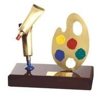 Trofeo pintura paleta y pintura