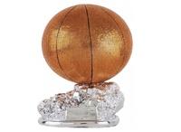 Trofeo plateado baloncesto y balón Yass