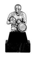 Trofeo realizado en resina, jugador de Rugby