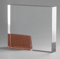 Trofeo rectangular bronce modelo Guadalajara