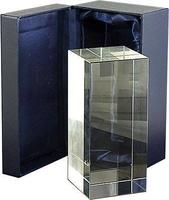 Trofeo rectangular personalizable en cristal optico