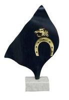Trofeo rombo ondas Laton Hipica, Caballos.